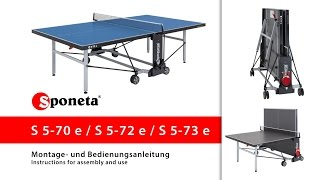 Sponeta S 5-70 / 72 / 73 e - Montageanleitung Tischtennistisch / Instructions for assembly and use
