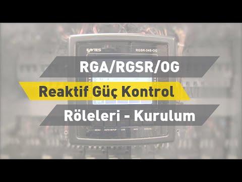 ENTES RGA/RGSR/OG Reaktif Güç Kontrol Röleleri - Kurulum
