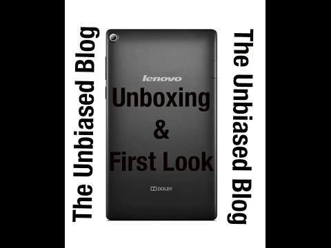 Lenovo Tab 2 A7-20 Unboxing & Quick Look