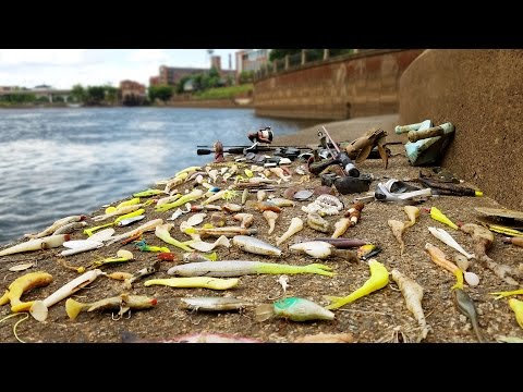 Searching for River Treasure! - Knife, Gun, 5 Sunglasses, Fishing Tackle and MORE! | DALLMYD