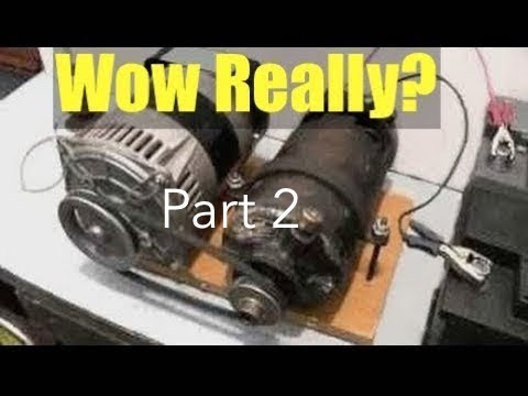 PART 2 – UPDATE – DIY Free Electricity with Self Perpetuating Generator