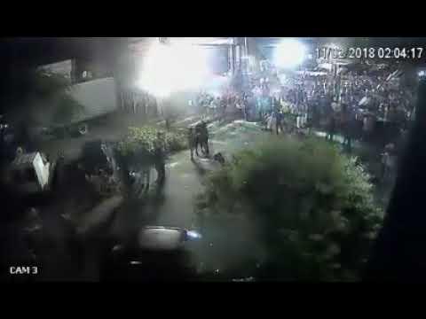 Homem leva um tiro na primeira noite de carnaval em Araruna PR (imagens de câmera de segurança )