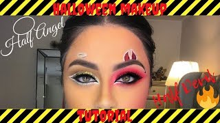 Halloween Makeup Devil And Angel.Half Devil Half Angel Halloween Costume ฟร ว ด โอออนไลน
