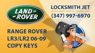 Range Rover LR3 2008 car key programming.