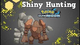 *LIVE* Shiny Hunting Regirock Pokemon Ultra Moon!!