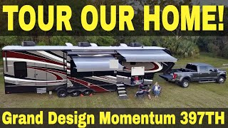 Grand Design Momentum 397TH - Full Time RV Tour! | Changing Lanes