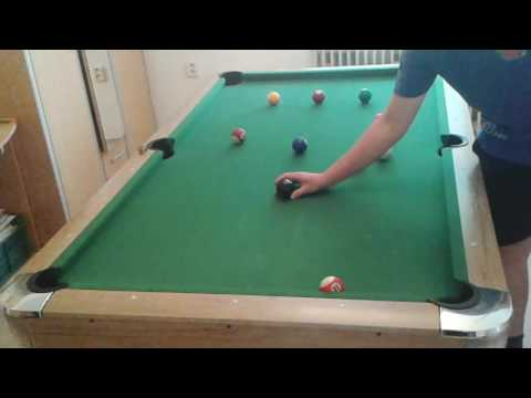 Snooker on 7ft table with pool balls