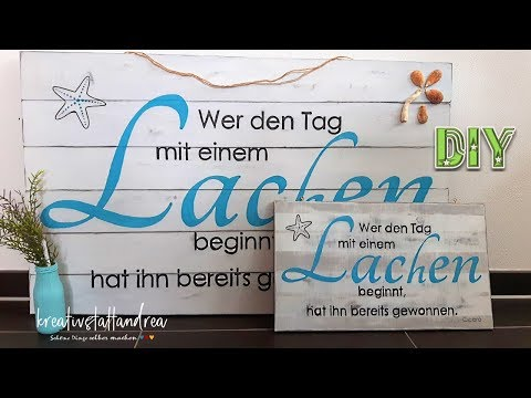DIY - Holzschilder mit Schrift und Spruch