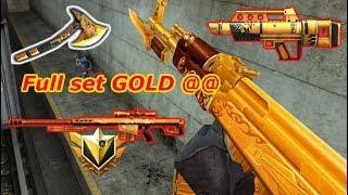 Full set GOLD bá đạo đua TOP vua súng Truy Kích VN