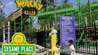 Sesame Place Oscar's Wacky Taxi Roller Coaster Tour | Sesame Street: I Love Trash