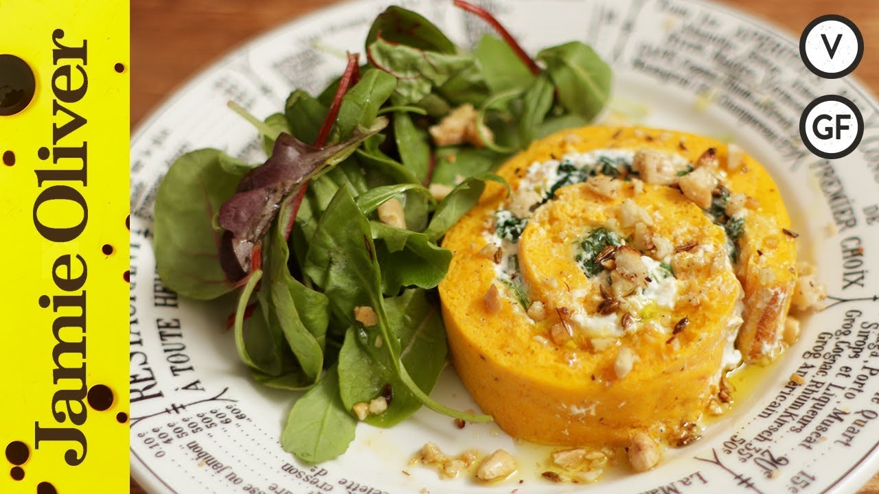 French recipes jamie oliver roasted squash goats cheese roulade forumfinder Image collections
