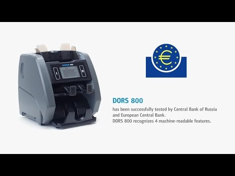 DORS 800  two-pocket banknote counter