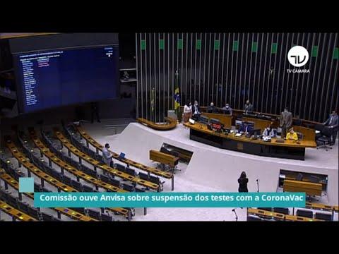 Comissão ouve Anvisa sobre suspensão dos testes com a CoronaVac - 17/11/20