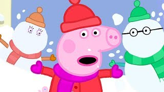 Peppa Pig Official Channel ❄️☃️ Peppa Pig's Snowy Holiday... with Snowman! ❄️☃️