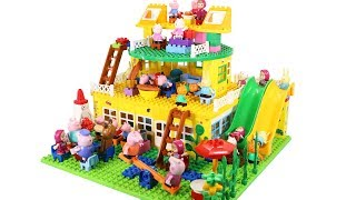 Peppa Pig House Construction Sets - Lego Duplo House Creations Toys For Kids #7