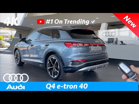 Audi Q4 e-Tron 2021 - First FULL In-depth review in 4K | Exterior - Interior (S-Line)