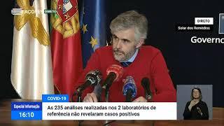 12/05: Ponto de Situação da Autoridade de Saúde regional sobre o Coronavírus nos Açores