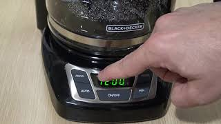How to Use a Black & Decker Coffemaker - Programmable Timer