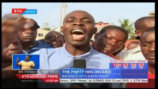 ODM supporters protest after national elections board awarded Cyprian Awiti the Siaya ticket