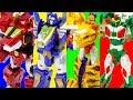 DinoCore Evolution Mega D Fighter Tyranno Tri VS HelloCarbot Jurassic Tego Triton Toy Transformation