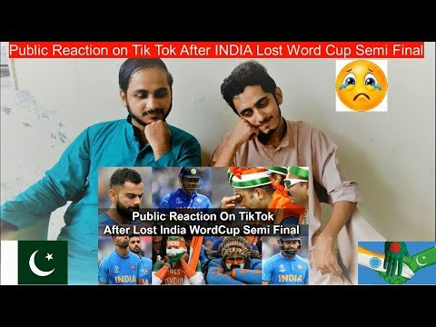 Pakistani Reaction On Public Reaction on Tik Tok After India Lost World Cup Semi Final |PAK Review's