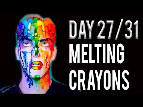 Day 27 - Melting Crayons Makeup Tutorial