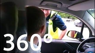 Policja zatrzymała mnie za jazdę po buspasie | DZIAŁAJĄCE wideo 360 stopni – www.elektrowoz.pl