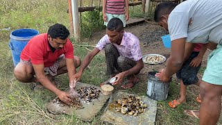 Crabs hunting and cooking | Anji mama tho Daawath | Village Cooking |My Village Show