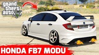 GTA 5 HONDA CİVİC FB7 MODU !! ARAÇ ALEV ALDI