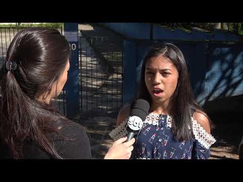 Aluna da Escola da Senhorinhas fala no SBT sobre a Represa do Calazan