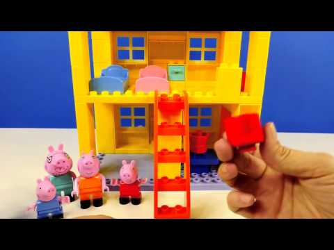 Peppa Pig 107 Mega Blocks Construction House Peppa's Building Bloks Toy by DCTC (видео)