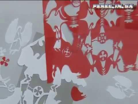 Виставка витинанок Надії Бабій в Галереї мистецтв ВОНСХУ 2012 - YouTube