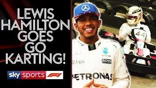 Go Karting with Lewis Hamilton   Lewis v Martin Brundle vs Johnny Herbert