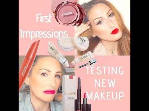 MY LIPS ARE CRUSTY - FULL FACE FIRST IMPRESSIONS - TESTING NEW MAKEUP