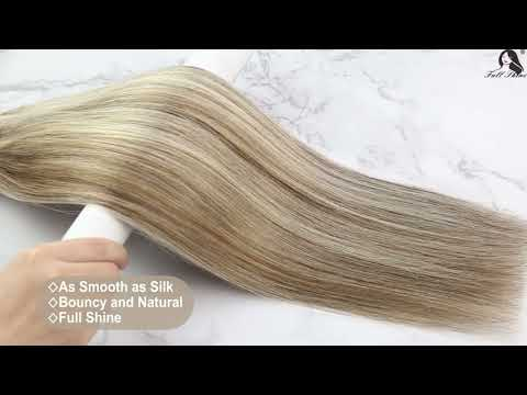 Full Shine Sew In Hair Weft Bundles 100% Remy Human Hair Highlights (#8P60)