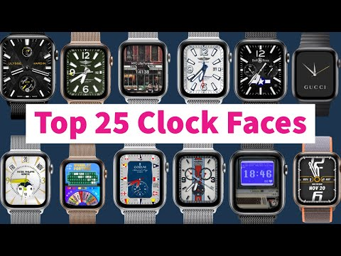 Top 25 Clock Faces For Apple Watch Beautiful | Clockology #10