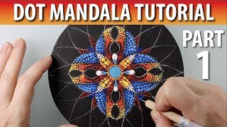 Part 3 - Torus Dot Mandala Tutorial - How to Paint Dot
