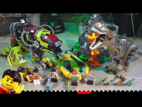 Build ⏩ LEGO Jurassic World T. rex vs. Dino-Mech Battle 75938 time lapse