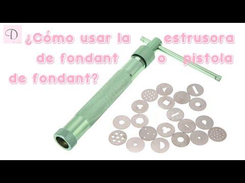 Cómo usar extrusora para fondant | pistola para fondant