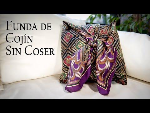 Funda de Cojin Sin Coser con Tela o Pañuelo Cuadrado