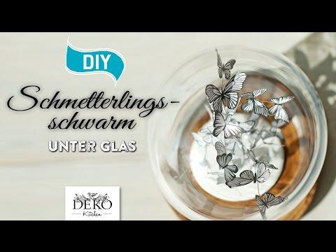 DIY: süßer Schmetterlingsschwarm unter Glas [How to] Deko Kitchen
