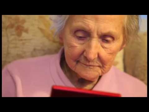 100 year old keeps sharp playing Nintendo DS
