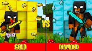 Minecraft Diamond House VS Gold House!!