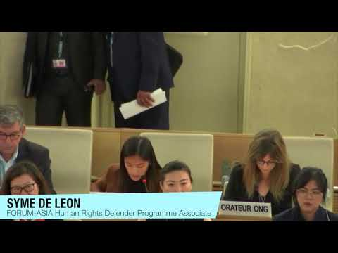 HRC43: Interactive Dialogue with the Special Rapporteur on the situation of human rights defenders