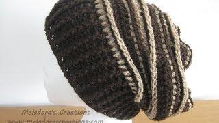 Riptide Slouch Hat - Crochet Tutorial