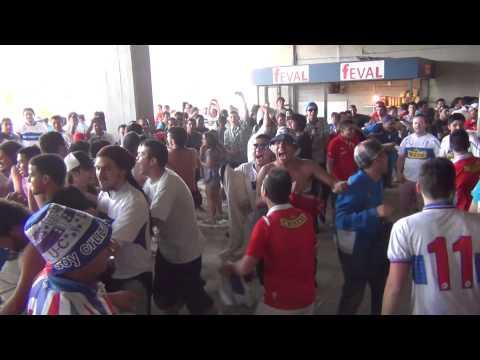 """""""Los Cruzados  en la Previa del Clásico Universitario  04/11/2012"""" Barra: Los Cruzados • Club: Universidad Católica • País: Chile"""