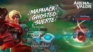 ¿¿JUGANDO CONTRA MAPHACK, GHOSTEO O SUERTE??   Navalha - Arena of Valor