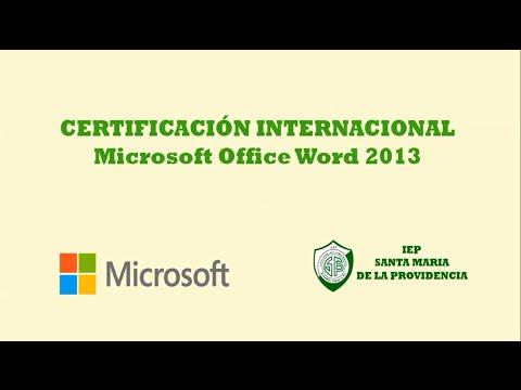Certificación Internacional de Microsoft Word