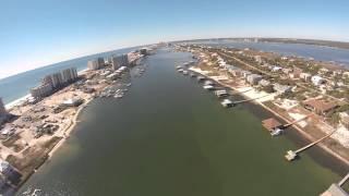 Flying Ono Island and Gulf Shores Alabama