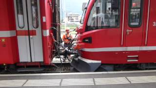 preview picture of video 'Italy: Bernina Railway, Tirano coupling, 17Sep14'